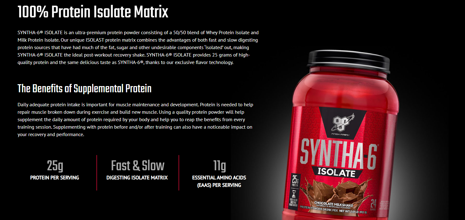 Supplements :: Protein :: WPI Protein :: Syntha 6 Isolate 4 lbs (1.82kg, 48serv)